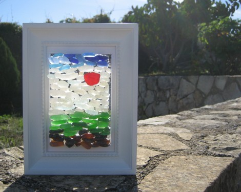 Sea Glass Painting by Trikimia