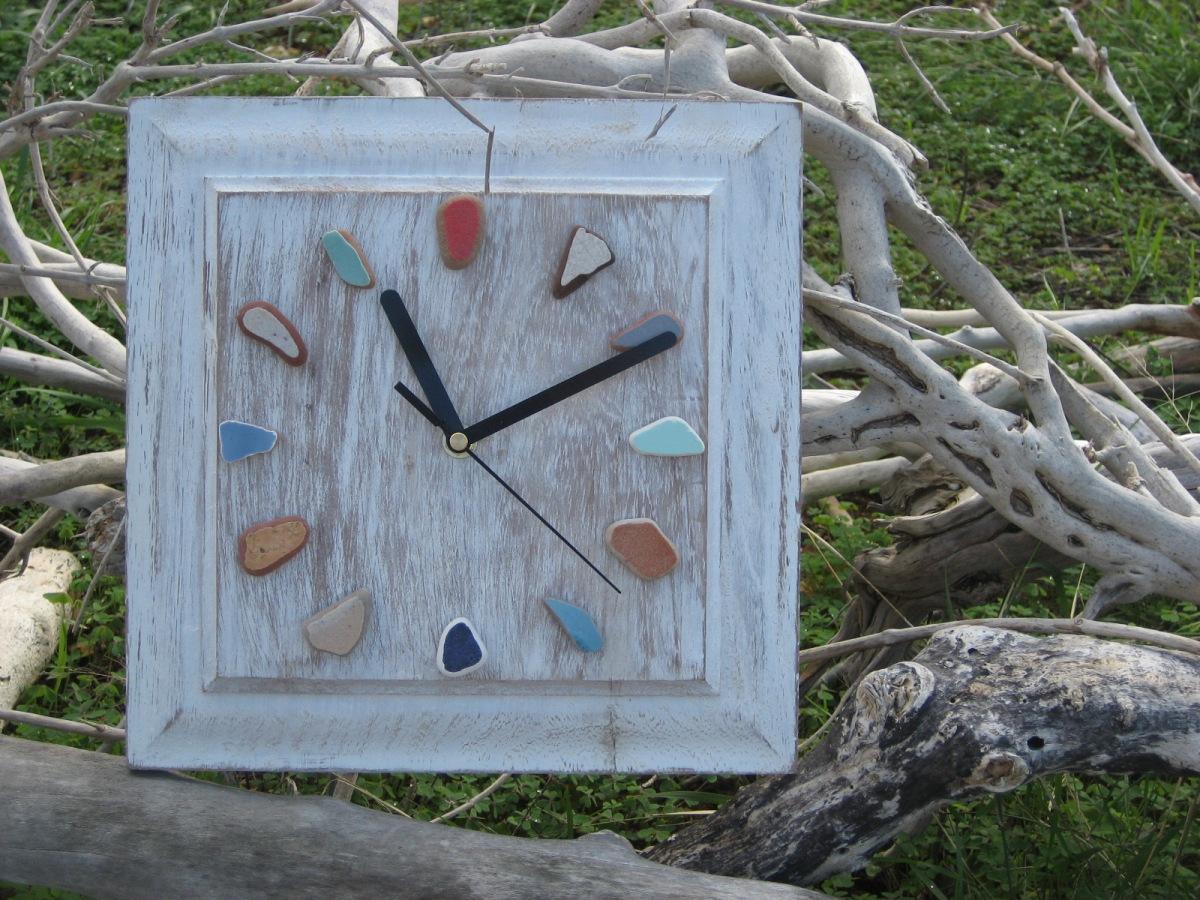 Sea Pottery Clock by Trikimia