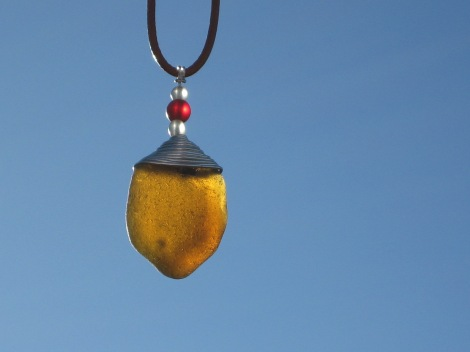 Honey Amber Sea Glass by Trikimia