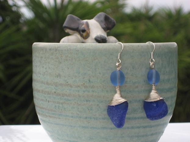 Cobalt Blue earrings by Trikimia