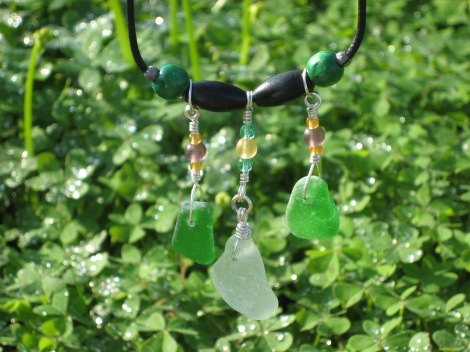 sea glass necklase